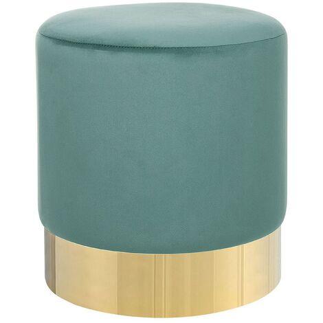 Velvet Pouffe Green SOPHIA
