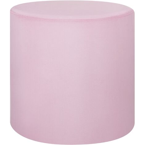 Velvet Pouffe Pink LOVETT
