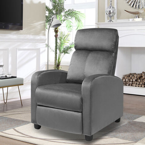 Velvet Recliner Sofa Adjustable Reclining Armchair