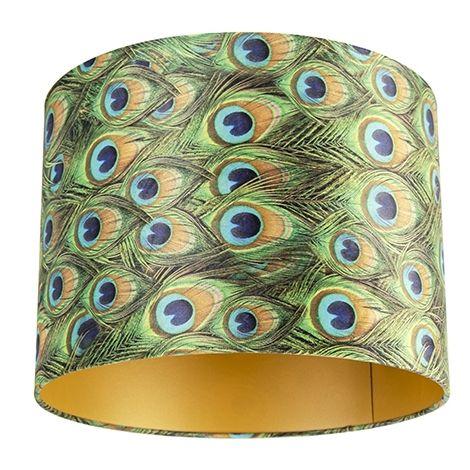 Velvet Shade Peacock Print with inner Gold 40/40/30