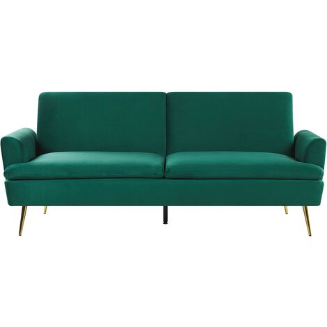 Velvet Sofa Bed Dark Green VETTRE