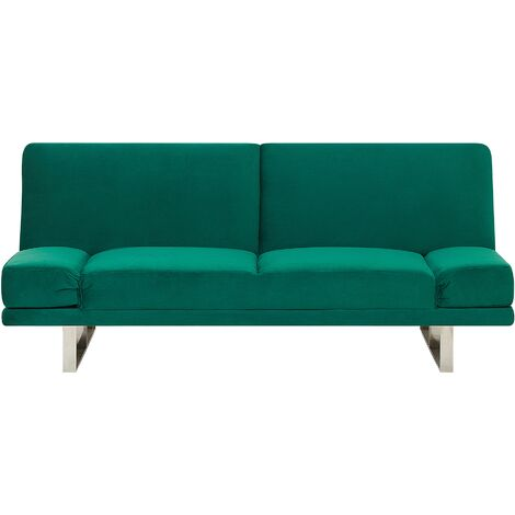 Velvet Sofa Bed Green YORK