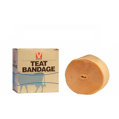Vendaje TEAT BANDAGE (6cm x 5m) para heridas en ubres de vaca