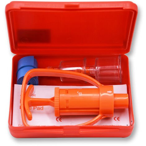 Veneno Extractor Remover Tool Kit de supervivencia de la bomba de vacio primera herramienta para ayudar al aire libre