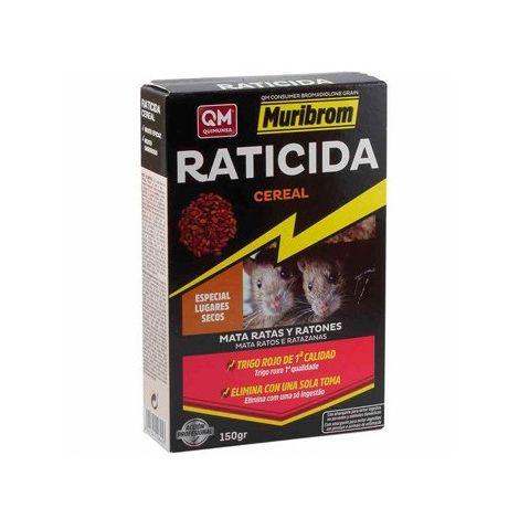 Veneno para ratas y ratones MURIBROM CEREAL TRIGO ROJO - Estuche 150 gr.
