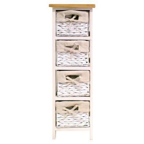 VENEZIA Petit meuble de rangement de salle de bain 24 cm - Laque ...