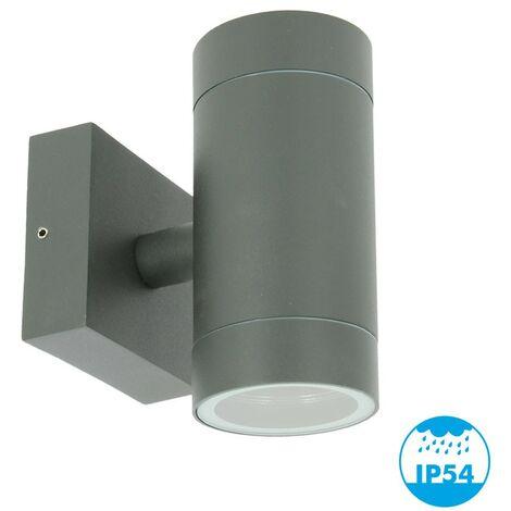 VENICE Aplique de exterior antracita doble haz GU10 IP54