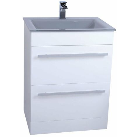 Venice Grey 600 Select Unit & Basin