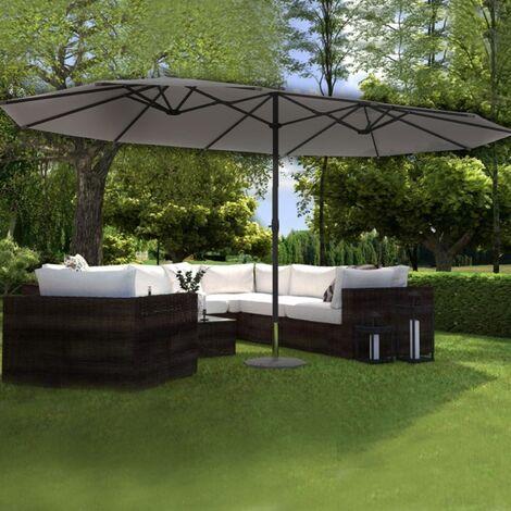 """main image of """"Venice gris: Sombrilla doble de 2,7 x 4,6m"""""""