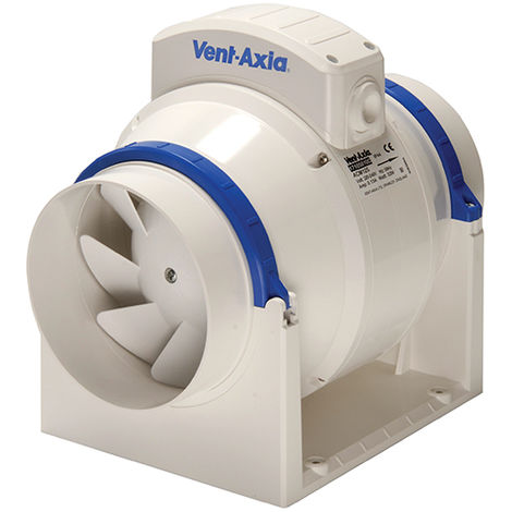 Vent-Axia ACM100T In-Line Fan Mixed Flow Fan with Timer 100mm/4 Inch (17104020)