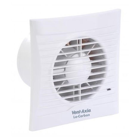Vent-Axia Lo-Carbon Silhouette 125H 125mm / 5 Inch Axial Fan with Humidistat (446485)