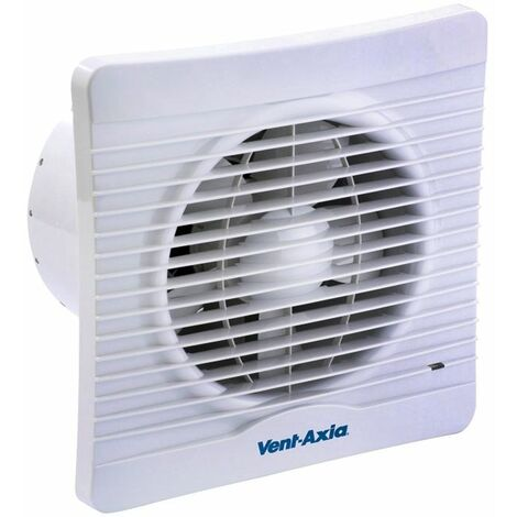 Vent Axia Lo-Carbon Silhouette 4 Inch Slimline Low Energy Bathroom Extractor Fan with Humidity Sensor - 441626