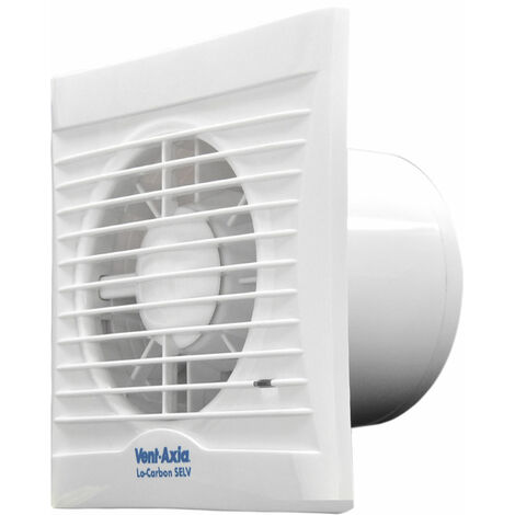 Vent-Axia Silhouette 100H Axial Bathroom, Kitchen and Toilet Fan - 454057
