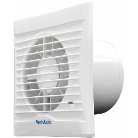 Vent-Axia Silhouette 100TM Axial Bathroom, Kitchen and Toilet Fan - 454058