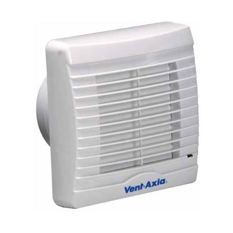 Vent Axia VA100LHP Axial Bathroom/Toilet Extractor Fan with Integral Humidity Sensor and Pullcord Fan Override