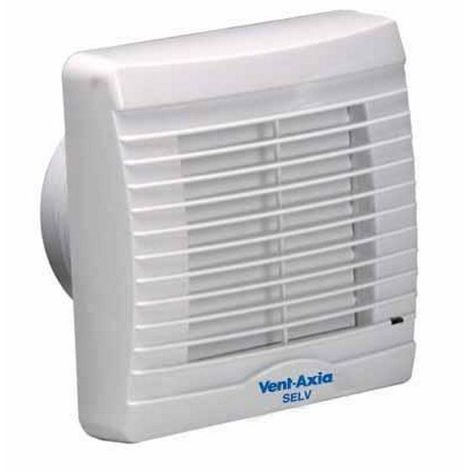 Vent Axia VA100LT Axial Bathroom/Toilet Extractor Fan with Timer Overrun Facility