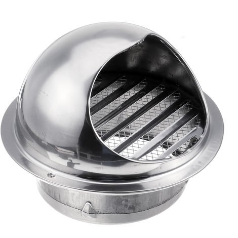 Vent Stainless Steel 150mm Wall Air Duct Vent Exhaust Grille Cover