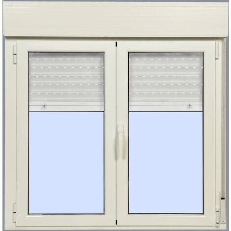 Ventana Aluminio Practicable Oscilobatiente con Persiana (PVC) 1000X1155 2h