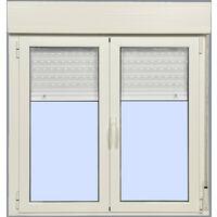 Ventana Aluminio Practicable Oscilobatiente con Persiana (PVC) 1200X1355 2h