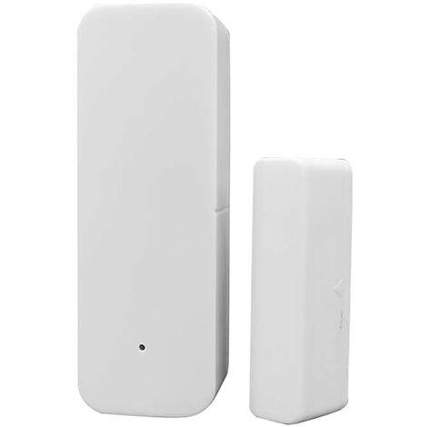 Ventana de la puerta de control de sensor de puerta WIFI Tuya Abriendo la aplicacion de seguridad del sensor de alarma del detector de interruptor magnetico inalambrico compatible con Alexa Google Inicio IFTTT, con la bateria