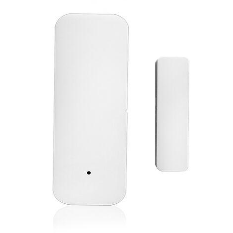 Ventana de la puerta de control de sensor de puerta WIFI Tuya Abriendo la aplicacion de seguridad del sensor de alarma del detector de interruptor magnetico inalambrico compatible con Alexa Google Inicio IFTTT, sin la bateria