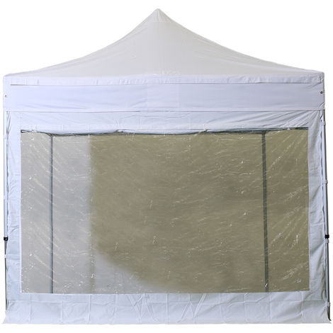 Ventana lateral grande cubierta lateral con cortina 3m - poliester 300g / m2 - unidad