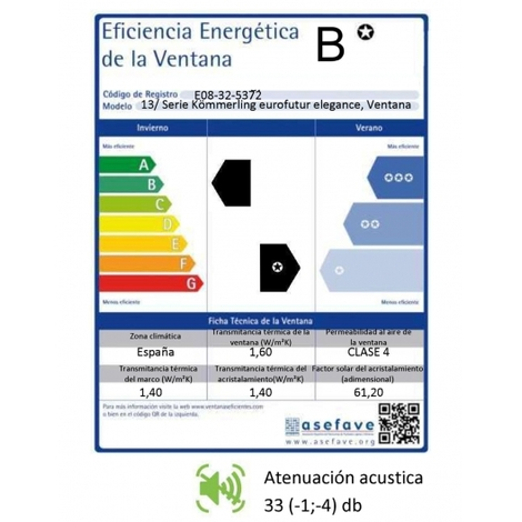 VENTANA PVC - 100 CM X 100 CM - 2 HOJAS - ROBLE DORADO - OSCILOBATIENTE ( REF. 39 )
