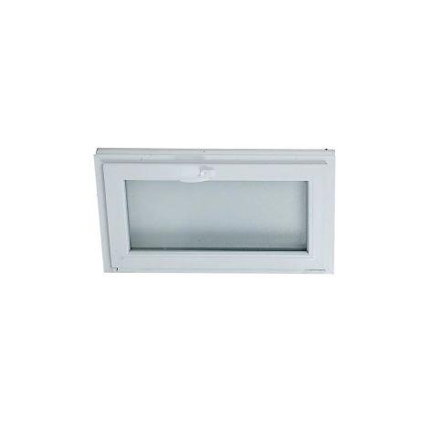 VENTANA PVC 100 CM X 50 CM - BASCULANTE - GOLPETE - VIDRIO MATE ( REF.28 )