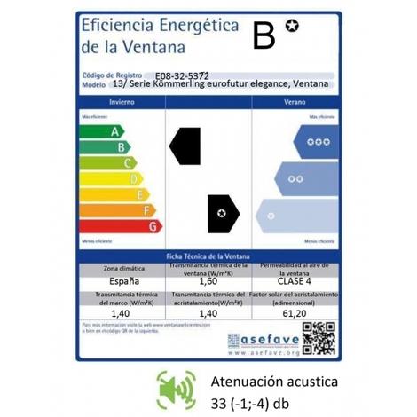 VENTANA PVC 100 CM X 50 CM - NOGAL - BASCULANTE - GOLPETE - VIDRIO TRANSPARENTE ( REF. 41 )