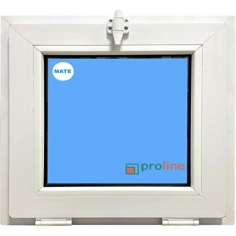 "main image of ""VENTANA PVC 600x500 BLANCA ABATIBLE (GOLPETE) VIDRIO MATE CLIMALIT"""