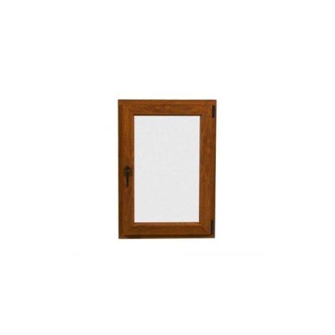 VENTANA PVC 80 CM X 100 CM - OSCILOBATIENTE - NOGAL - DERECHA - VIDRIO TRANSPARENTE ( REF. 23 )
