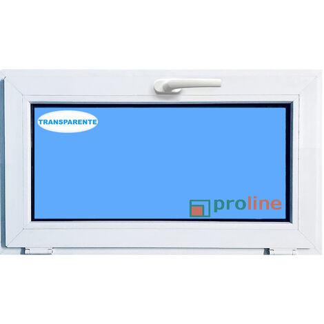 VENTANA PVC BLANCA 1000x500 ABATIBLE (GOLPETE) CLIMALIT