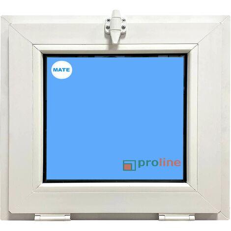 VENTANA PVC BLANCA 600x500 ABATIBLE (GOLPETE) CLIMALIT MATE CARGLASS