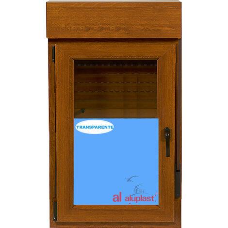VENTANA PVC (COLOR MADERA) ROBLE DORADO 800x1155 CON PERSIANA OSCILOBATIENTE IZQUIERDA CLIMALIT