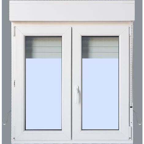 Ventana PVC Practicable Oscilobatiente 2 hojas con Persiana (PVC) 1000X1155 2h