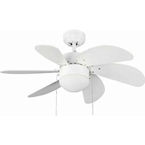 Ventilador 6 palas 76cm - Tabit blanco CRISTALREDORD 85-790-06-100