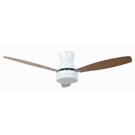 Ventilador blanco 132 cm MYKONOS led control remoto