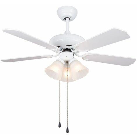 Ventilador blanco con luces cm 132x33-46h SULION 072816