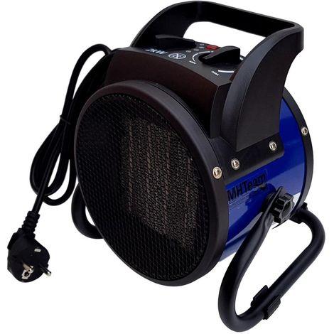 Ventilador calefactor cerámico 2000W PTC cm 21,0x16,0x21,7 italia EH6-02-blu