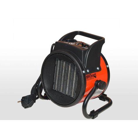 Ventilador calefactor cerámico 2000W PTC cm 21x16x21,7 italia EH6-02-rosso
