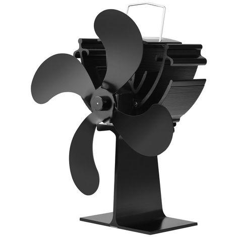 Ventilador de chimenea de 4 palas, ventiladores de distribucion de calor