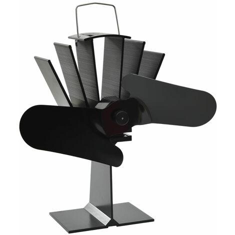 Ventilador de estufa accionado por calor 2 aspas negro