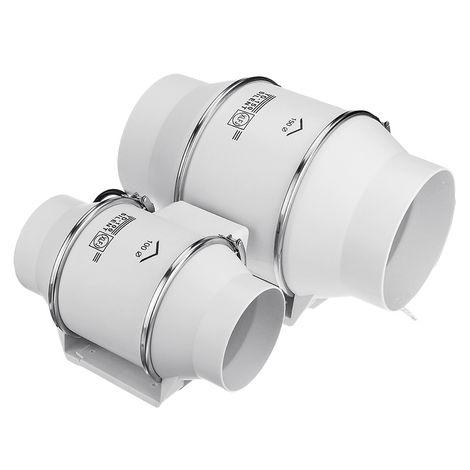 Ventilador de extracción de conducto en línea de flujo de 8 '' Ventilación Ventilador ABS Ventilador extractor