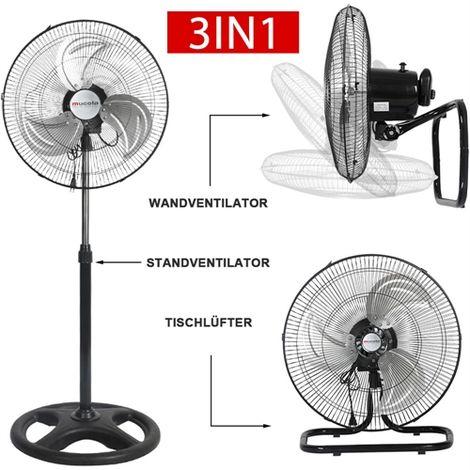 Ventilador de suelo 3en1 Ventilador de suelo de Ø45cm Ventilador de aire acondicionado