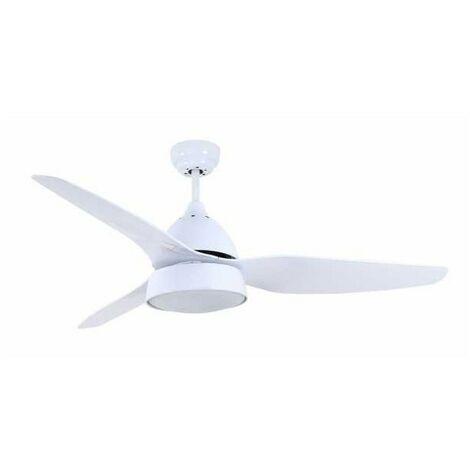 Ventilador de techo AUTAN blanco con luz y control remoto de Fabrilamp