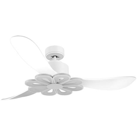 Ventilador de Techo Blanco Aspas blancas Luz L4 Blanca
