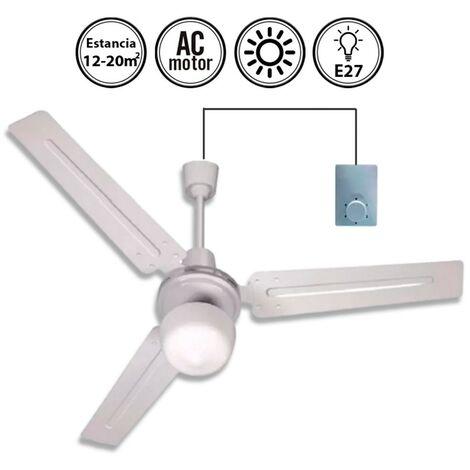 Ventilador de techo Blanco con luz 90d