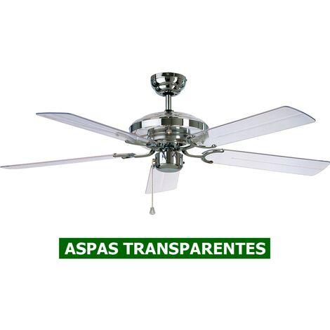 Ventilador de techo CasaFan 513234 ACRYLIC 132 cromo / vidrio acrílico transparente
