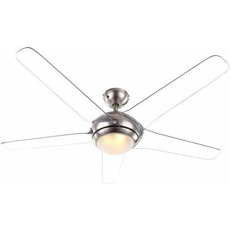 Ventilador de techo con LED 20W control remoto de iluminación de 3 niveles ala transparente Globo 0344