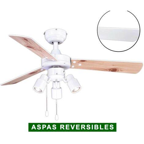 Ventilador de techo con luz AireRyder FN44477 CYRUS blanco o pino